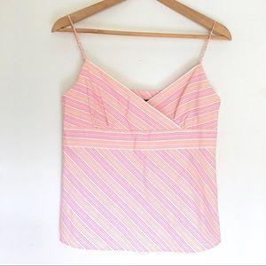 J. Crew striped | spaghetti straps | empire waist